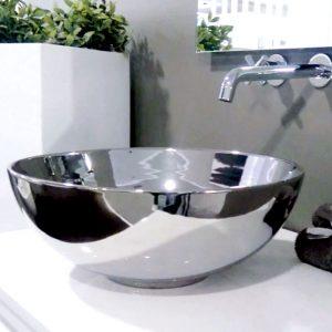 lavatório de pousar art decor prata