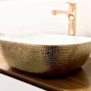lavatório de pousar skin copper