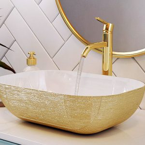 lavatório pousar silk gold